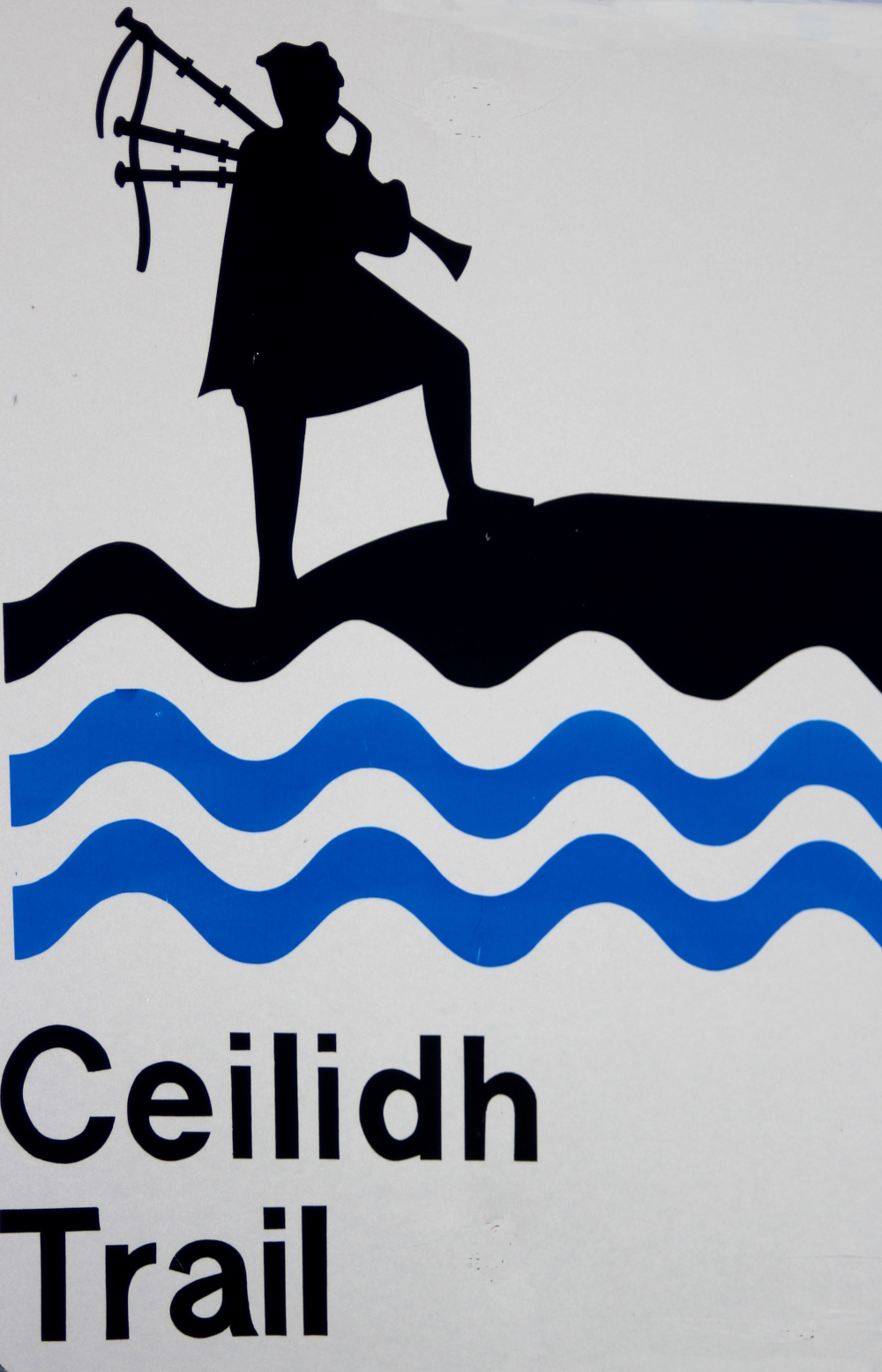 Look for the Ceilidh Trail sign along Route 19 on Cape Breton Island.