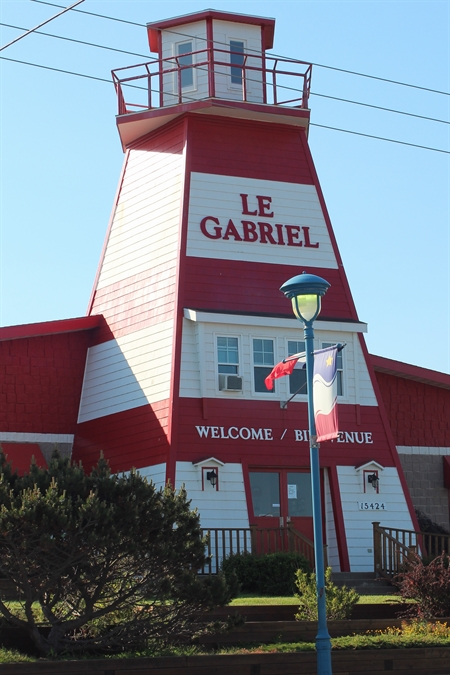 This wonderful lighthouse is Le Gabriel restaurant.