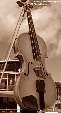 The Big Fiddle in Sydney, Cape Breton, Nova Scotia