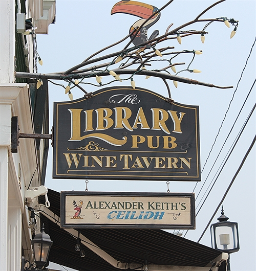 Be sure to stop at the Library Pub for a visit while you are in Wolfville, Nova Scotia.  Awesome spot!!