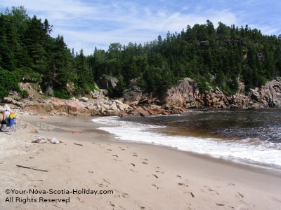 Black Brook Beach on the Cabot Trail, Cape Breton, Nova Scotia