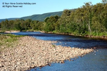 The Margaree River along the Cabot Trail in Cape Breton