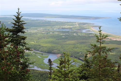This is a view of the village of Cheticamp taken from a look-out on the Acadian hiking trail.