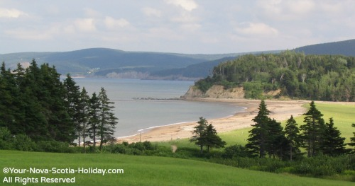 View of Aspy Bay from the Markland Resort in Dingwall, Cape Breton