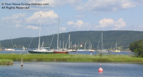 Georgeous Baddeck Bay on the Cabot Trail in Cape Breton, Nova Scotia