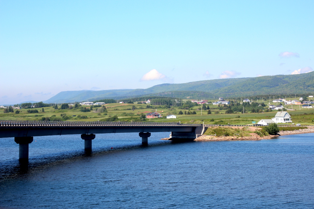 The bridge at Margaree Harbour leading from the Ceilidh Trail to the Cabot Trail.