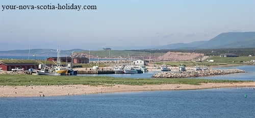 Beautiful view of Margaree Harbour along the western coastline of Cape Breton.