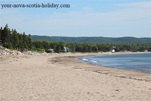North Bay Ingonish beach is an awesome spot if you love the beach.  Overlooking the Atlantic Ocean with the Cape Breton highlands in the background it is a wonderful playground.