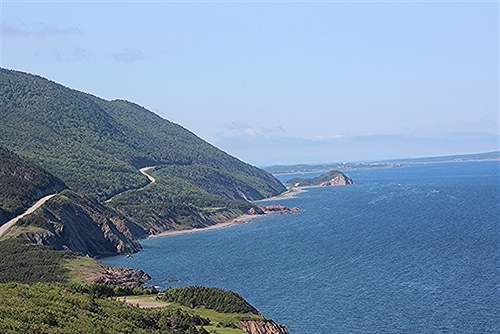 The Cabot Trail in the Cape Breton Highlands National Park.  A simply wonderful beautiful place.