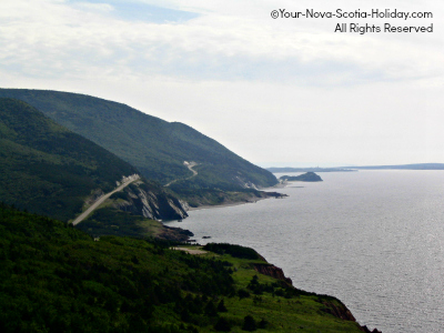 View of the Cabot Trail from French Mountain