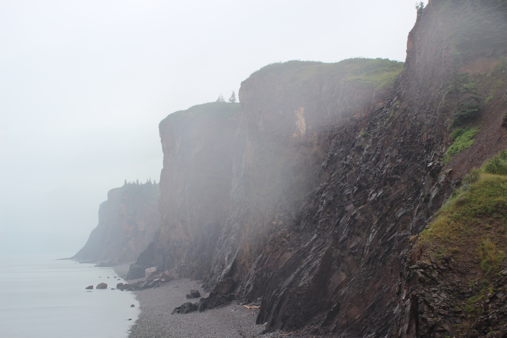Some of the cliffs at Cape d'Or are 660 feet high.  Very impressive.