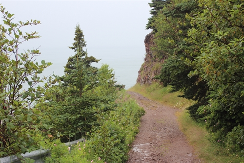 The path down to Cape d'Or is steep and rocky but is worth every step.