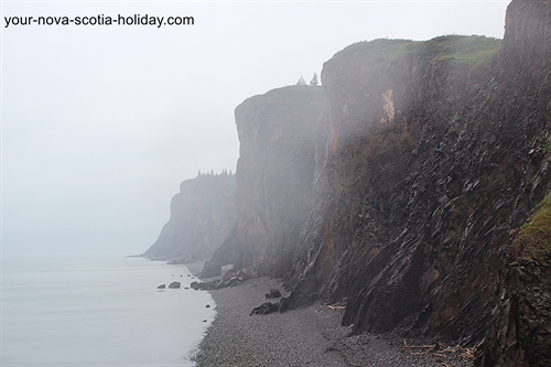 Some of the cliffs at Cape d'Or are 660 feet.  Very impressive.