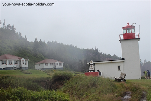 The lighthouse keeper's residence is now available for visitors who want to stay overnight at Cape d'Or.