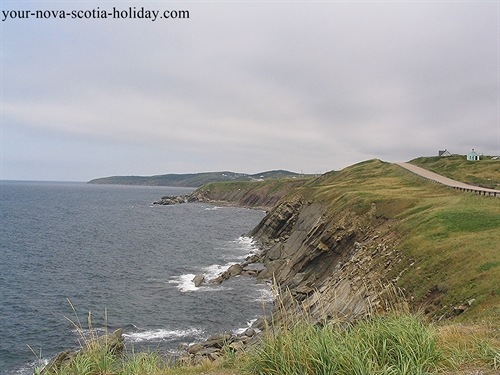 Picturesque coastline on the way to Cheticamp on the western coast of Cape Breton Island.