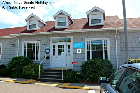 Visitor Information Centre in Port Hastings as you arrive in Cape Breton