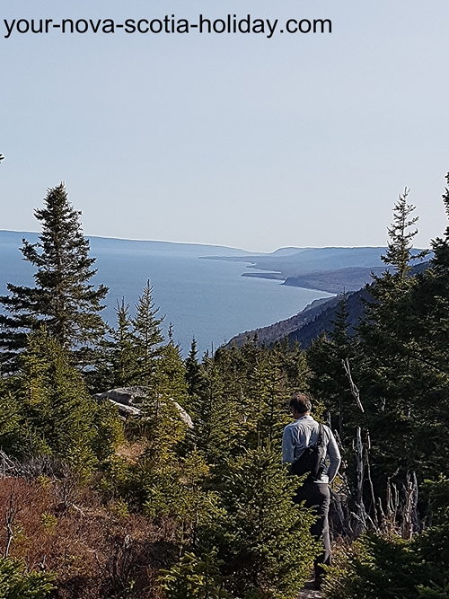 This is one of views of the ocean and the coastline that you'll see on the Cape Smokey trail.