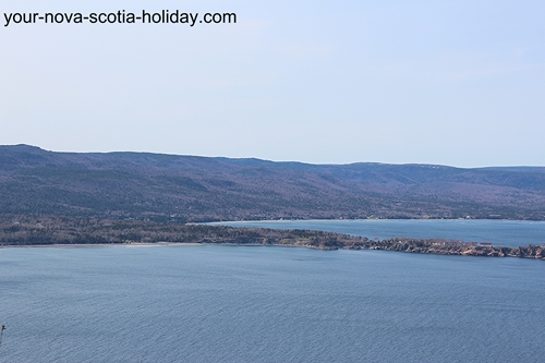 This is part of the view once you arrive at Stanley Point on the Cape Smokey trail. Cape Breton Highlands & the beginning of Middle Head.
