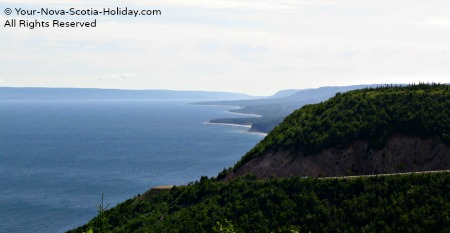 A view of the coastline from Cape Smokey on the east side of the Cabot Trail, Cape Breton
