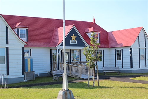 Les Trois Pignons is the local cultural and genealogy centre in Cheticamp, Cape Breton.  This is the place to visit if you want to learn about the history of the area.