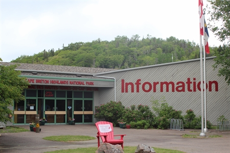 This is the Visitor Information Centre at Cheticamp for the Cape Breton Highlands National park.