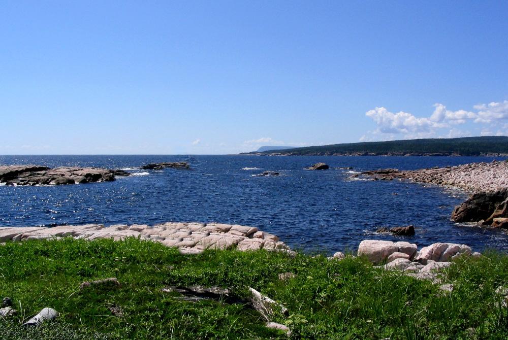 The Coastal hiking trail along the Atlantic Ocean near Ingonish in the Cape Breton Highlands National Park