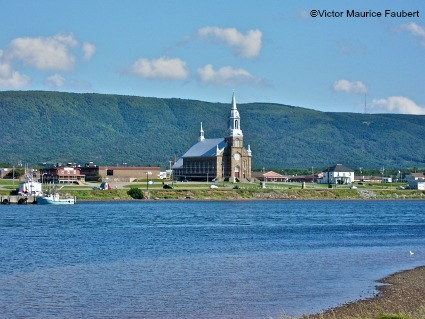 Eglise Saint Pierre, Cheticamp, Cape Breton.  This church dates to 1893.  It's steeple can be seen for miles on a clear day.