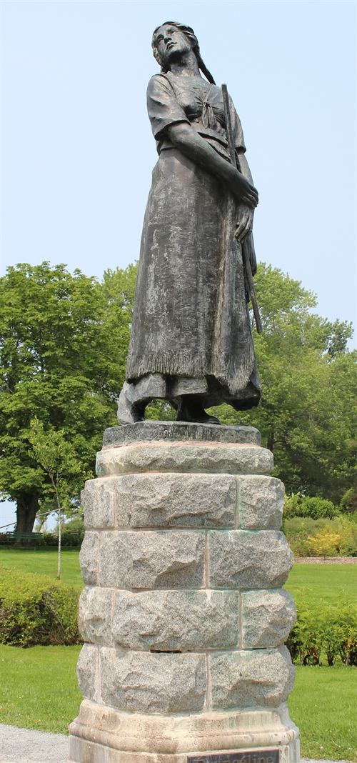 This is Evangeline.  She was made famous by Henry Wadswork Longfellow's Evangeline:  A Tale of Acadia which was published in 1847. You can see this statue at Grand Pré in Nova Scotia.