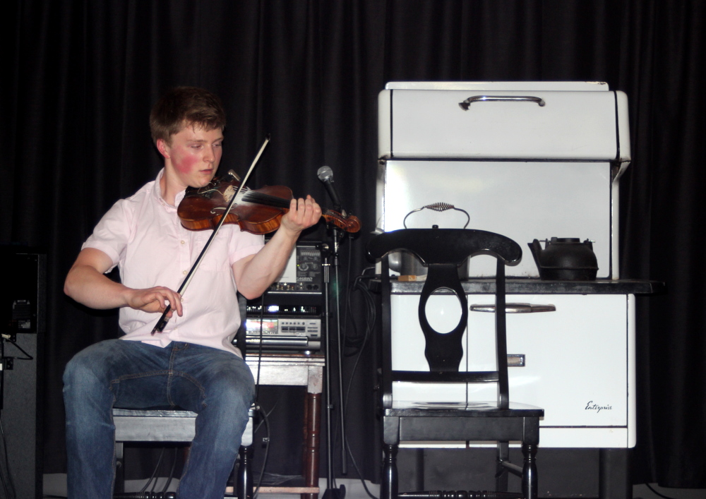 Fiddler Douglas Cameron performs at the Celtic Music Interpretive Centre.