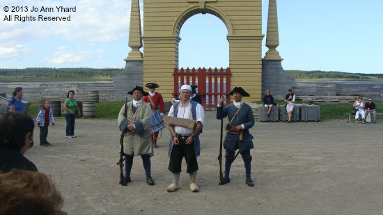 A thief is arrested at the Fortress of Louisbourg