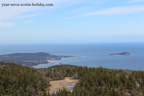 A super view of North Bay Ingonish and Ingonish Island from Franey Mountain.  This is on the Cabot Trail in the Cape Breton Highlands National Park.