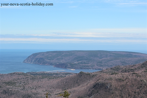 A great view of South Bay Ingonish and Cape Smokey from Franey Mountain.  This is on the Cabot Trail in the Cape Breton Highlands National Park.