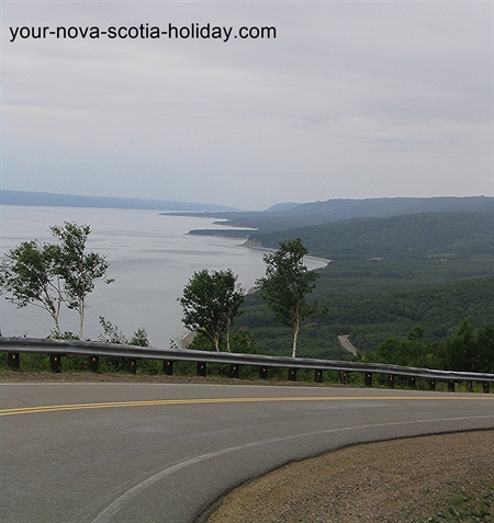 A great view of the Cape Breton coastline from Cape Smokey along the Cabot Trail.