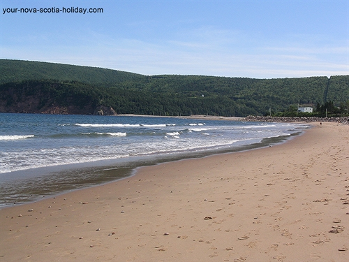 Gorgeous Ingonish beach along the Cabot Trail in northern Cape Breton.