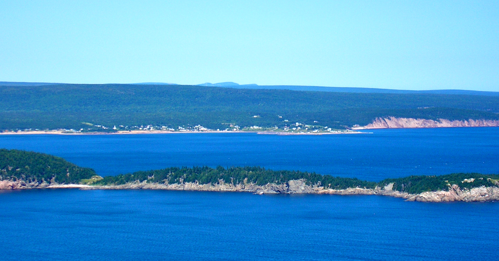 Ingonish & Middle Head as seen from the top of Cape Smokey