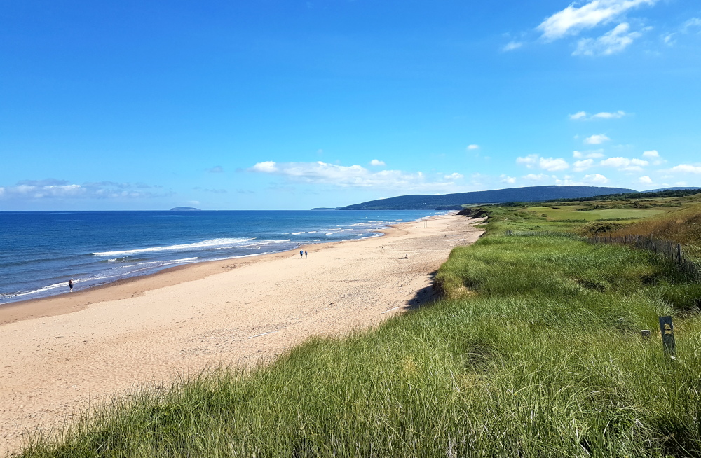 The fantastic Inverness beach along the Ceilidh Trail in Cape Breton.