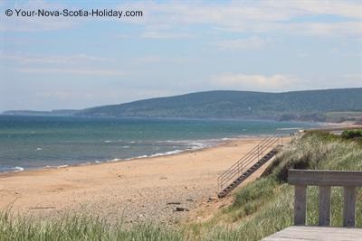 Inverness Beach in Inverness, Cape Breton on the Ceilidh Trail