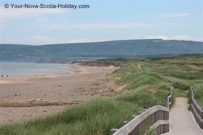 Inverness Boardwalk along the Atlantic Ocean, Ceilidh Trail, Cape Breton