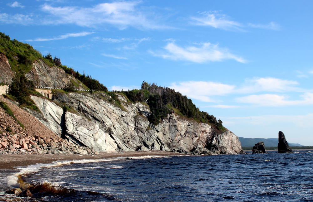 Pillar Rock on the Cabot Trail in the Cape Breton Highlands