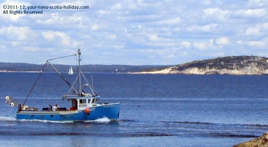 A Cape Islander off the coast of Nova Scotia