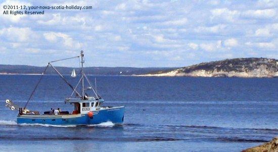 A Cape Islander off the coast of Nova Scotia