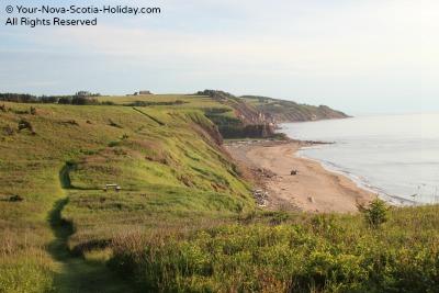 A coastal hiking trail in Mabou