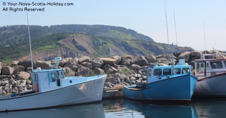Fishing boats in Mabou along the Ceilidh Trail, Cape Breton, Nova Scotia