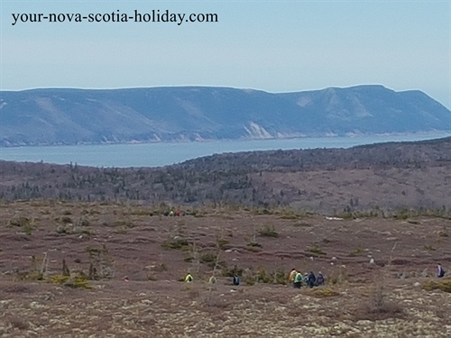 Mica Hill sits on the plateau in the Cape Breton Highlands National park.  The vast barrens of the plateau is impressive.