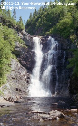 North River Falls in Cape Breton, Nova Scotia