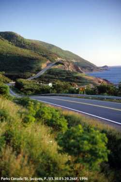 Cabot Trail on Cape Breton Island, Nova Scotia