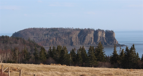 This is Partridge Island located near the town of Parrsboro in Nova Scotia. The island is on the Bay of Fundy and has a great hiking trail that offers some spectacular views of the bay.