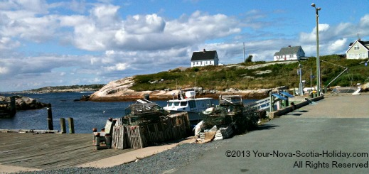 Quaint little fishing village of Peggy's Cove in Nova Scotia