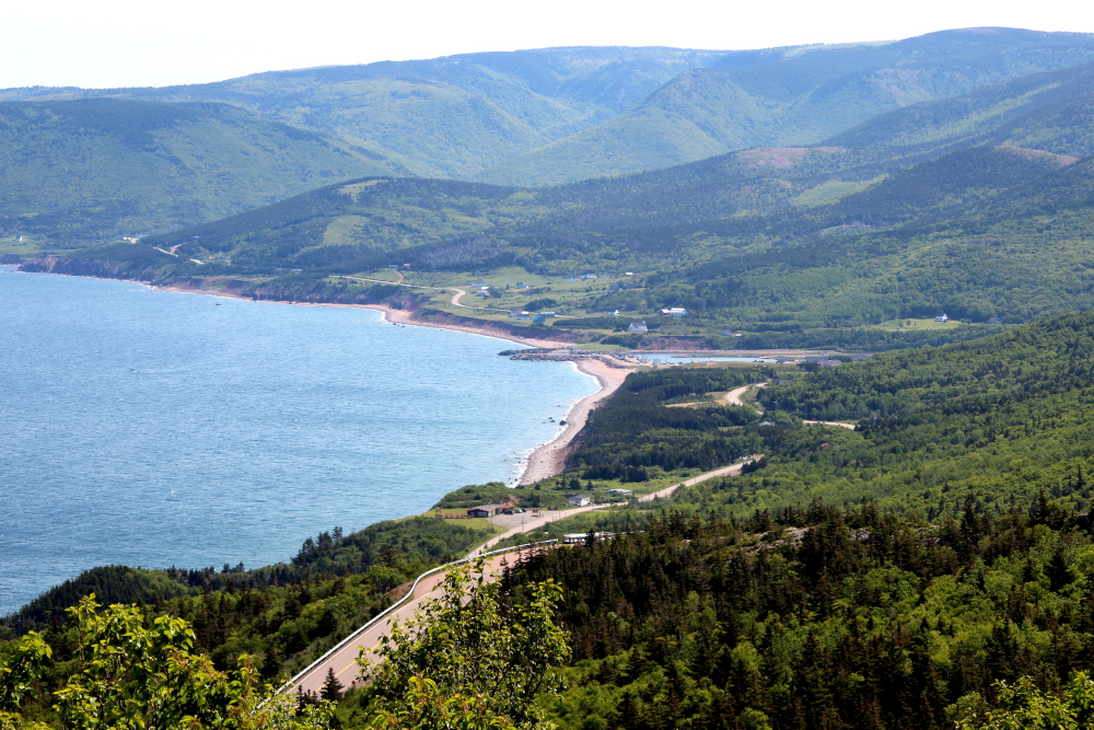 A great view of Pleasant Bay from MacKenzie Mountain in the Cape Breton Highlands National Park.