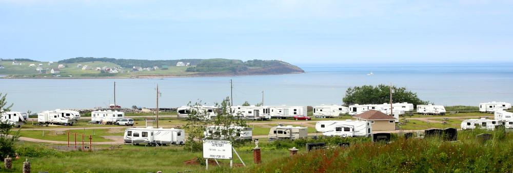The Sunset Sands RV Park in Port Hood, Cape Breton overlooks the Atlantic Ocean.